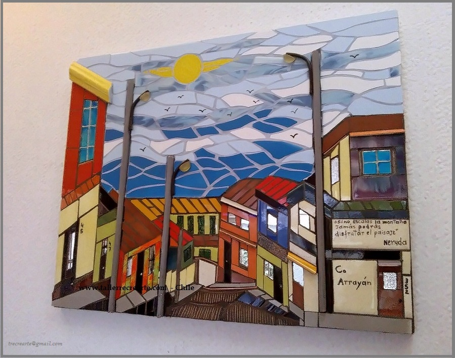 Mosaico cursos talleres taller recrearte for Espejos murales